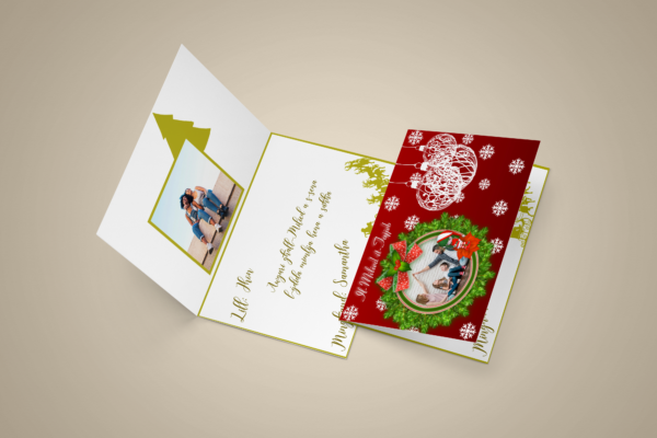 Personalised Christmas Greeting Card Template 2