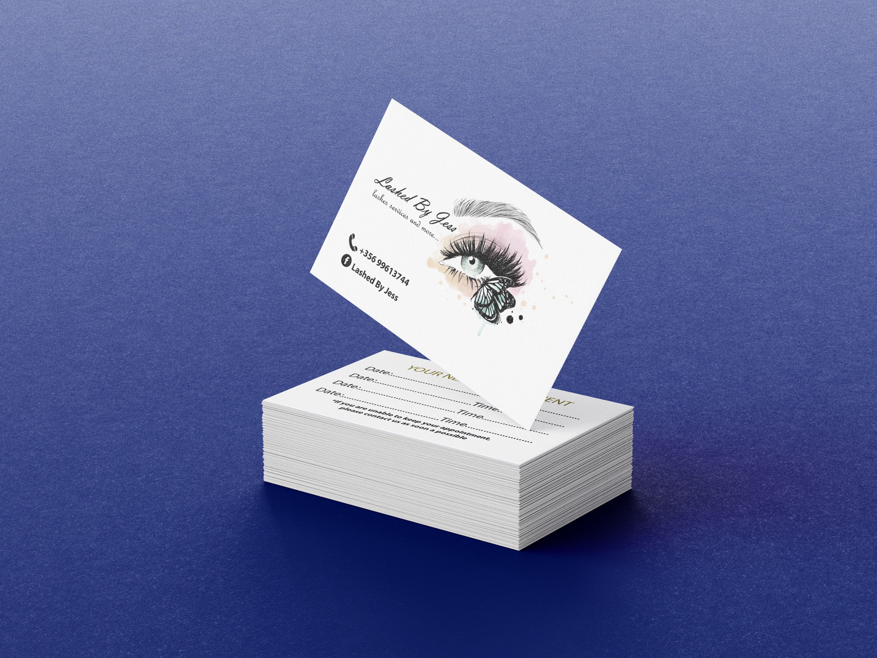 Lashed By Jess Business Card Display